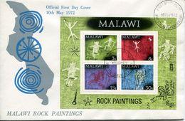 Malawi Mi# Block 27 Used On FDC - Rock Paintings - Malawi (1964-...)
