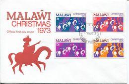 Malawi Mi# 207-10 Used On FDC - Christmas - Malawi (1964-...)