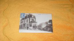 CARTE POSTALE ANCIENNE CIRCULEE DE 1931../ LANNION.- RESTAURANT DES 3 TROIS GARES..CACHET + TIMBRE - Lannion