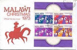 Malawi Mi# 207-10 Block Stamps Used On FDC - Christmas - Malawi (1964-...)