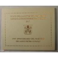 VATICAN EURO - Coffret 2 Euro 2017 Commemorative BU - PIERRE ET PAUL - Vaticaanstad