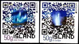 CEPT / Europa 2012 Islande N° 1288 Et 1289 ** Adhésifs - Patrimoine - Tourisme - 2012