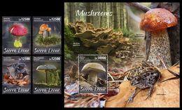 SIERRA LEONE 2020 - Mushrooms, 4v + S/S Official Issue [SRL200212] - Sierra Leone (1961-...)