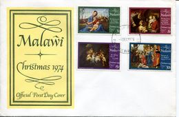 Malawi Mi# 224-7 Used On FDC - Christmas - Malawi (1964-...)