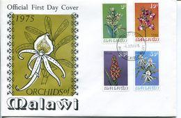 Malawi Mi# 246-9 Used On FDC - Flora Orchids - Malawi (1964-...)