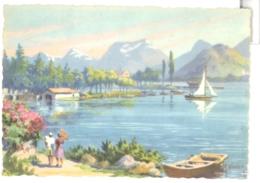 CPSM GF 74 - Lac D'ANNECY - TALLOIRES - L'Embarcadère - Talloires