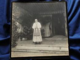 Photo Grand Cabinet Anonyme - Prêtre Sur Une Estade, Cérémonie, Circa 1895-1900 L514 - Anciennes (Av. 1900)