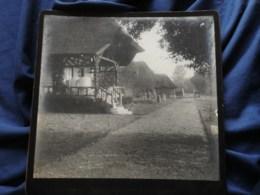 Photo Grand Cabinet Anonyme - Maison à Colombage Et Toit De Chaume, Normandie ?? Circa 1895-1900 L514 - Anciennes (Av. 1900)
