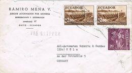 36873. Carta Aerea Via CLIPPER, QUITO (Ecuador) 1960 To Germany - Ecuador