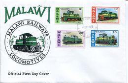 Malawi Mi# 267-70 Used On FDC - Railways Trains - Malawi (1964-...)