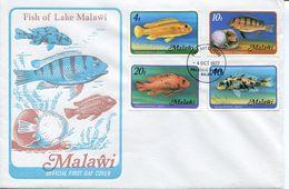 Malawi Mi# 285-8Y Used On FDC - Fauna Fish - Malawi (1964-...)