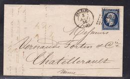 France, Loiret - Yvert N° 14Aa, Pc 2340 Sur LAC D'Orleans Du 3/8/1856 - Postmark Collection (Covers)