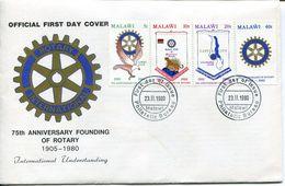 Malawi Mi# 340-3 Used On FDC - Rotary - Malawi (1964-...)