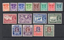 Burma 1945 GV1 Mily Admn Full Set. Unmounted Mint. - Burma (...-1947)