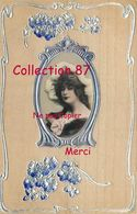 ☺♦♦ FEMME En MEDAILLON Et MOTIFS ARGENTÉS - Anciennes (Av. 1900)