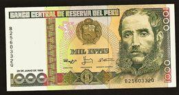 """1000 Intis """"PEROU""""   28 Juin 1988 UNC  Bc49 - Peru"""