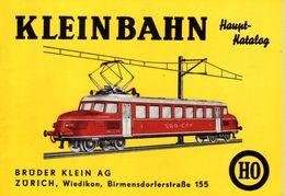 Catalogue KLEINBAHN 1964-65 Haupt-Katalog Schweizer Ausgabe Preis CHF - Libros Y Revistas