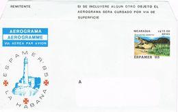 36878. Aerograma NICARAGUA 1985. Espamer 85 De La Habana - Nicaragua