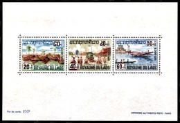 (075) Laos  Flood Relief Sheet / Bf / Bloc / Hochwasserhilfe / Nature Catastrophes   ** / Mnh  Michel BL 42 - Laos