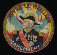 """Ancienne étiquette Fromage Camembert """" Joffre Le Meilleur""""  """"Maréchal Joffre, Thème  La Grande Guerre14-18"""" - Fromage"""