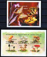 Mozambique-1999, Mi.1489-1494+Bl.34, Mushrooms, IMPERF., MNH** - Pilze