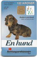 Denmark - Danmønt - Amtssparekassen Fyn Dachshund Dog - DD124A - 100Kr. Exp. 06.1998, 1.089ex, Used - Dinamarca