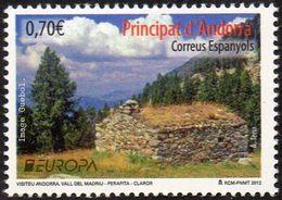 CEPT / Europa 2012 Andorre Espagnol N° 375 Tourisme - Europa-CEPT