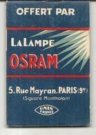 CARNET PUB . LAMPE OSRAM - Pubblicitari