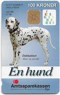 Denmark - Danmønt - Amtssparekassen Fyn Dalmatiner Dog - DD128A - 100Kr. Exp. 07.1998, 1.100ex, Used - Dinamarca