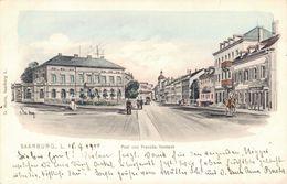Sarrebourg, Saarburg Post Und Französ. Vorstadt Künstler Ak Eugen Felle 1905 - Sarrebourg