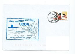 17697 - SOUS-MARIN -- SNA AMETHYSTE  BLEU - MISSION 3C04 - Juillet-Décembre 2019 - Poststempel (Briefe)