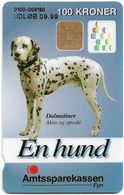 Denmark - Danmønt - Amtssparekassen Fyn Dalmatiner Dog - DD128E - 100Kr. Exp. 09.1999, 1.011ex, Used - Dinamarca