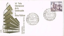 36882. Carta MADRID 1973. V Feria Internacional De La CONSTRUCCION Y Obras Publicas - 1931-Aujourd'hui: II. République - ....Juan Carlos I
