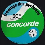 Etiquette Fromage  Des Pyrénées 50%mg Concorde  Solami Et Gorges Du Tarn Solami Rodez Aveyron 12 - Kaas