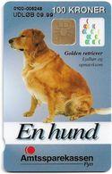 Denmark - Danmønt - Amtssparekassen Fyn Golden Retriever Dog - DD141C - 100Kr. Exp. 09.1999, 1.050ex, Used - Dinamarca