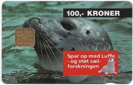 Denmark - Danmønt - Luffe Seal Animal - DD001B - 100Kr. Exp. 12.1994, 1.500ex, Used - Dinamarca