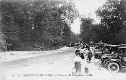 62251Le Touquet Paris PlageCarrefour De L'Hermitage - (animée - Vielles Voitures)51Circulée 1923 - Le Touquet