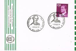 36885. Tarjeta MALAGA 1978. Matasellos CARLOS III - 1931-Hoy: 2ª República - ... Juan Carlos I