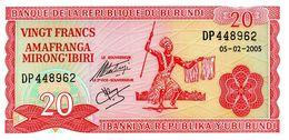 BURUNDI - Banque De La République Du Burundi - 20 Francs 05-02-2005 - Série DP 448962 - P.27d - UNC - Burundi