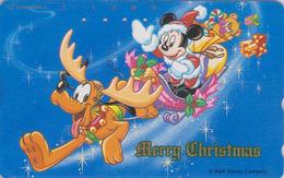 JAPAN - TC Japon / 110-161716 - DISNEY - Série NOEL N° 9/25 - MICKEY Traîneau & Chien Pluto Dog -  CHRISTMAS Phonecard - Disney