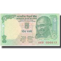 Billet, Inde, 5 Rupees, UNDATED (1996-2002), KM:88Aa, NEUF - Inde