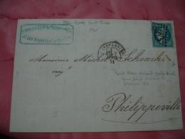 1871 Gros Chiffre 5023  Constantine Algerie Timbre Ceres Non Dentele Pour Philippeville - Postmark Collection (Covers)