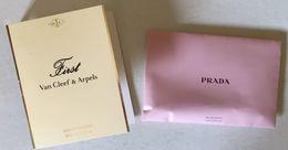 PRADA & VAN CLEEF & ARPELS  :2 Tubes échantillons  (différents) - Muestras De Perfumes (testers)