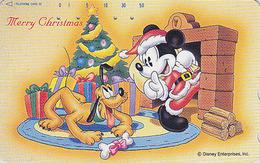 JAPAN - TC JAPON / 110-180833 - DISNEY - Série NOEL N° 13/25 - MICKEY Chien PLUTO Dog & Sapin - CHRISTMAS Phonecard - Disney