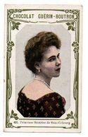 Trade Card. Chromo Chocolat Guérin-Boutron. N° 431, Princesse Béatrice De Saxe Cobourg. - Guérin-Boutron