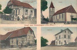 Gruß Aus Grenzingen Grentzingen Mit Bahnhof Arrondissement Altkirch Um 1915 - Altkirch