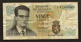 """20 Francs  """"BELGIQUE""""  15 Juin 1964    Bc 7 - [ 6] Schatzamt"""