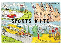 CP Sports D'été - Pétanque, Montagne, Les Excursions, Sur Le Lac - Postales