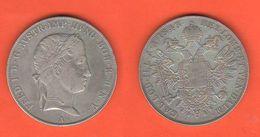 Thaler Tallero 1843 KAISER Friedrich Austria Österreich - Autriche