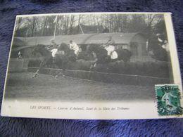 C.P.A.- Les Sports - Hippisme - Courses D'Auteuil (78) - Saut De La Haie Des Tribunes - 1908 - SUP - (DH 93) - Hípica